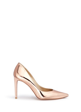 Main View - Click To Enlarge - Stuart Weitzman - 'Legend' metallic mirror leather pumps