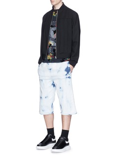 McQ Alexander McQueen Logo embroidered bleached shorts