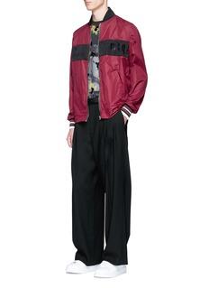 McQ Alexander McQueenLogo print colourblock jacket