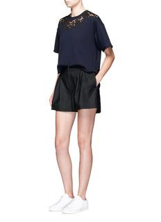 3.1 Phillip LimElastic back bloomer shorts