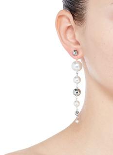Joomi Lim'Love At First Sight' Swarovski pearl drop earrings