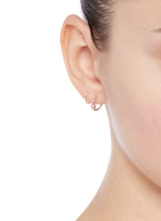 Maria Black'Helix Twirl' rose gold sterling silver spiral earrings