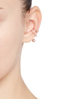 Maria Black'Illusion' rose gold silver sculptural single ear cuff