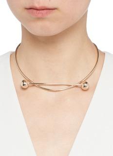 Maria Black'Solar' pierced rose gold sterling silver choker