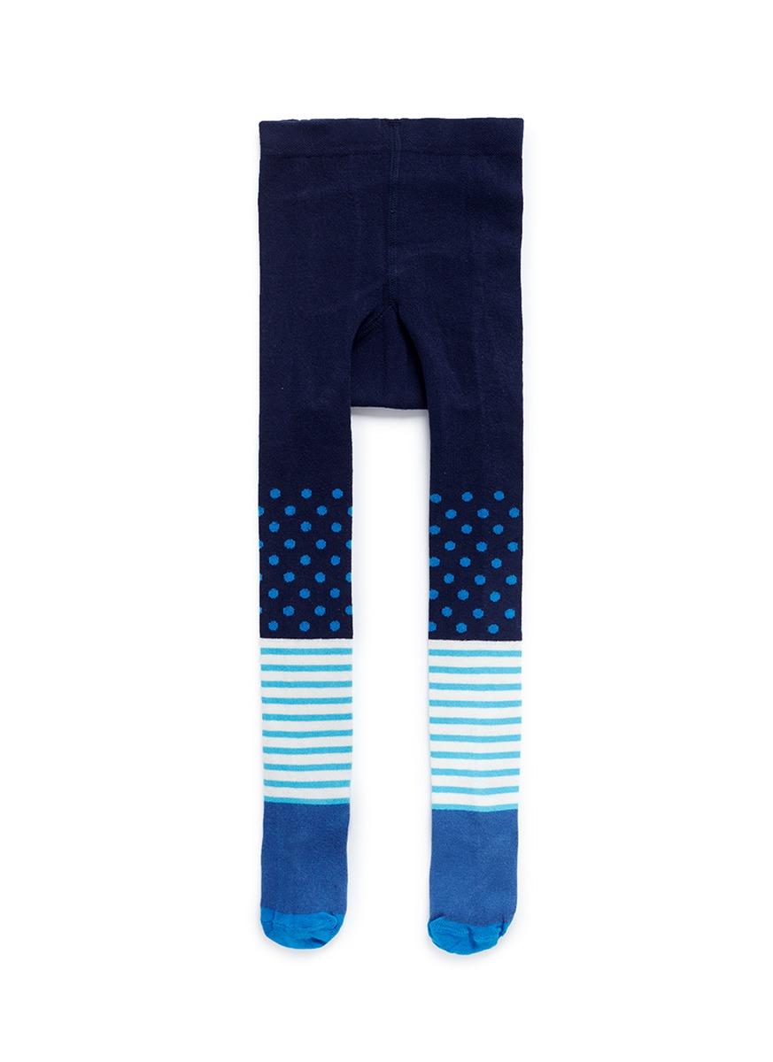 happy socks female stripe dot kids tights