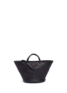 Meli Melo 'Rosalia' mini woven effect leather trapeze tote