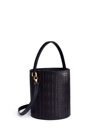 Detail View - Click To Enlarge - Meli Melo - 'Santina' woven effect leather bucket bag