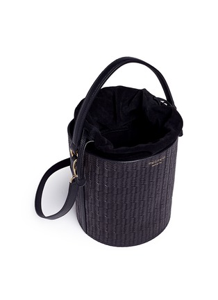 - Meli Melo - 'Santina' woven effect leather bucket bag