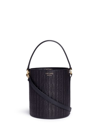 Main View - Click To Enlarge - Meli Melo - 'Santina' woven effect leather bucket bag