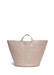 Meli Melo 'Rosalia' woven effect leather trapeze tote