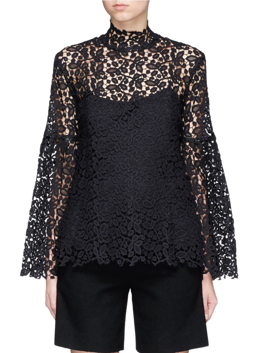 Bell sleeve guipure lace top by macgraw