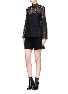 macgrawBell sleeve guipure lace top