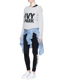 Ivy Park Logo print foldover waist leggings