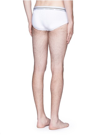 Back View - Click To Enlarge - Dolce & Gabbana - 'Brando' stretch cotton briefs