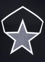 Taped star cotton neoprene sweatshirt