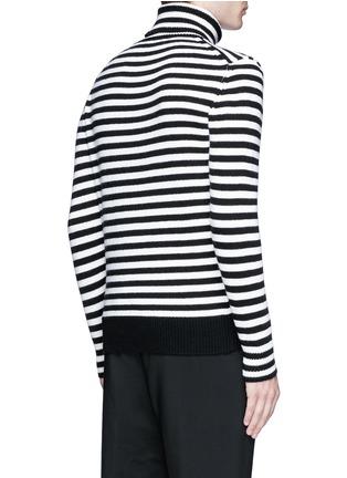 Moncler-Stripe virgin wool turtleneck sweater