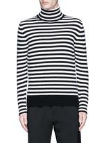Stripe virgin wool turtleneck sweater