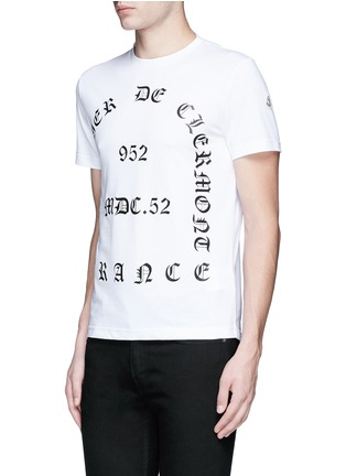 Front View - Click To Enlarge - Moncler - 'Maglia' typography print cotton T-shirt