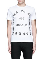 'Maglia' typography print cotton T-shirt