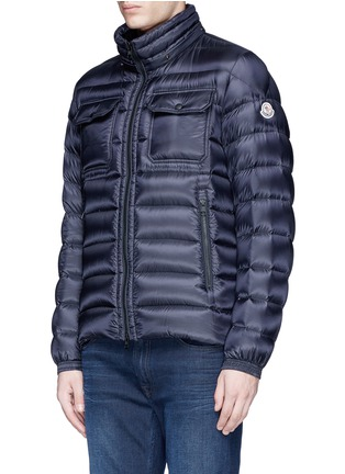 Detail View - Click To Enlarge - Moncler - 'Valence' detachable hood puffer down jacket
