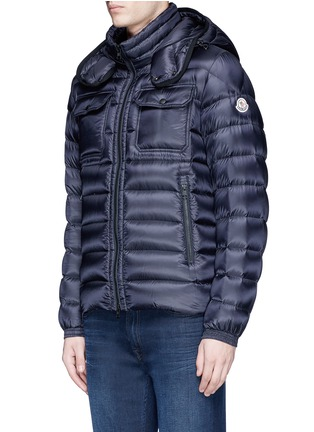 Front View - Click To Enlarge - Moncler - 'Valence' detachable hood puffer down jacket