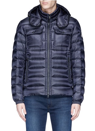 Main View - Click To Enlarge - Moncler - 'Valence' detachable hood puffer down jacket