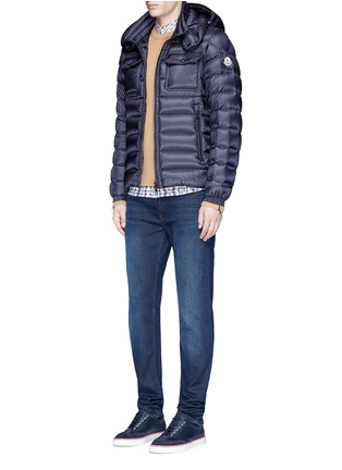 Figure View - Click To Enlarge - Moncler - 'Valence' detachable hood puffer down jacket
