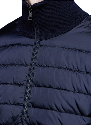 Detail View - Click To Enlarge - Moncler - 'Maglione Tricot' down front zip cardigan