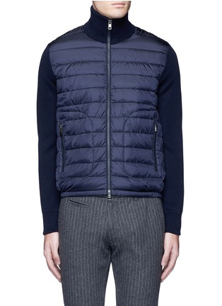 Main View - Click To Enlarge - Moncler - 'Maglione Tricot' down front zip cardigan