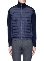 'Maglione Tricot' down front zip cardigan