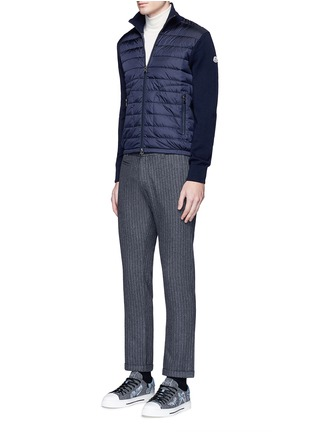 Figure View - Click To Enlarge - Moncler - 'Maglione Tricot' down front zip cardigan