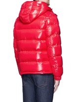 'Maya' lacquered down puffer jacket