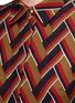 Detail View - Click To Enlarge - Gucci - Chevron stripe silk-wool shirt