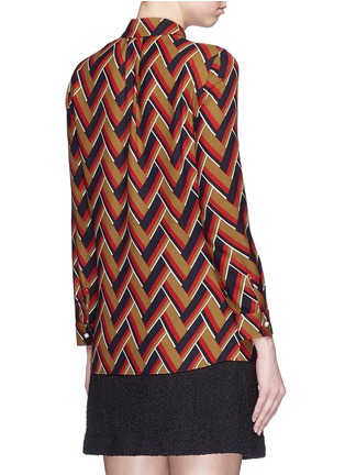 Back View - Click To Enlarge - Gucci - Chevron stripe silk-wool shirt