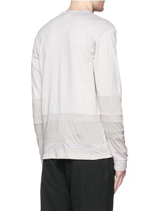 Back View - Click To Enlarge - Comme Des Garçons Homme - Patchwork garment dyed cotton jersey T-shirt