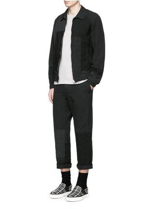 Figure View - Click To Enlarge - Comme Des Garçons Homme - Patchwork garment dyed cotton jersey T-shirt