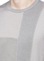 Patchwork garment dyed cotton jersey T-shirt