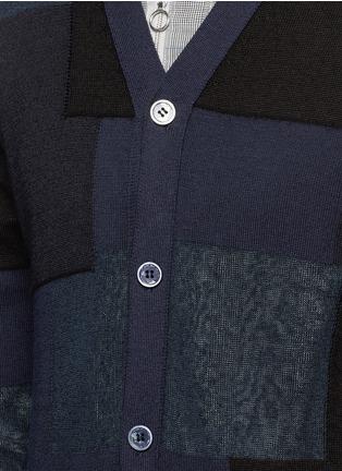 Detail View - Click To Enlarge - Comme Des Garçons Homme - Patchwork cotton-wool-linen cardigan
