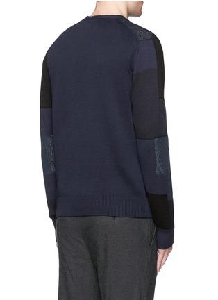 Back View - Click To Enlarge - Comme Des Garçons Homme - Patchwork cotton-wool-linen cardigan