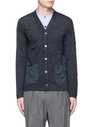 Main View - Click To Enlarge - Comme Des Garçons Homme - Crinkle ramie-linen piqué cardigan