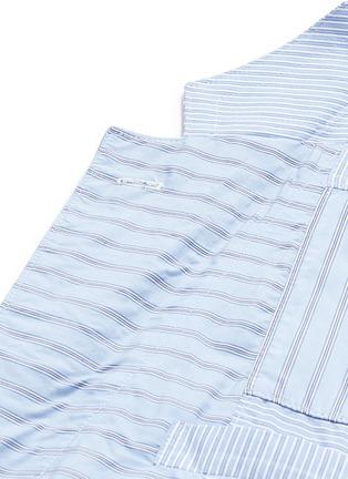 Detail View - Click To Enlarge - Comme Des Garçons Homme - Stripe patchwork soft cotton blazer