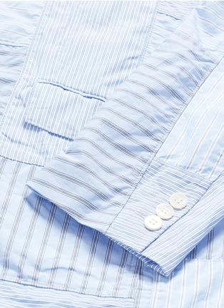 - Comme Des Garçons Homme - Stripe patchwork soft cotton blazer