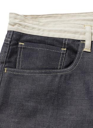 - Comme Des Garçons Homme - Contrast drawstring waist cotton-linen jeans