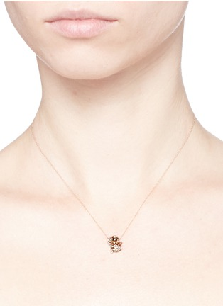 Detail View - Click To Enlarge - Bao Bao Wan - 'And the little ones...' Monkey diamond 18k rose gold pendant necklace