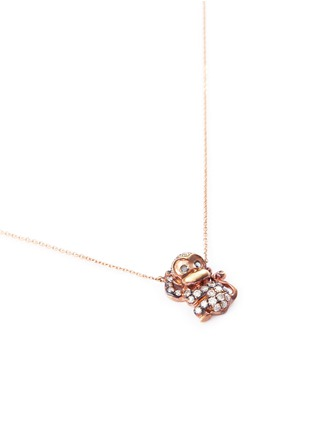 Bao Bao Wan - 'And the little ones...' Monkey diamond 18k rose gold pendant necklace