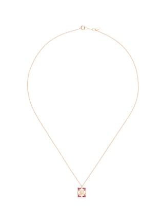Main View - Click To Enlarge - Bao Bao Wan - 'And the little ones...' Red Pocket ruby 18k rose gold pendant necklace