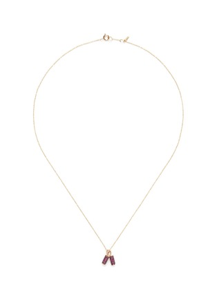 Bao Bao Wan - 'And the little ones...' Fire Cracker ruby 18k yellow gold pendant necklace