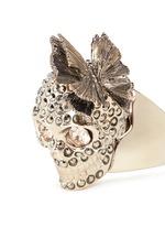Butterfly skull Swarovski crystal ring