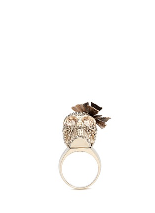 Figure View - Click To Enlarge - Alexander McQueen - Butterfly skull Swarovski crystal ring