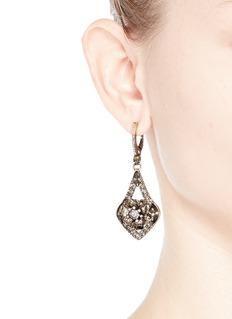 ALEXANDER MCQUEENFlower crystal teardrop earrings